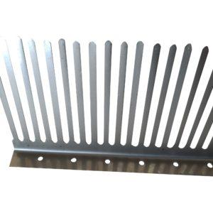 pettine parapasseri acciaio inox h=10 cm