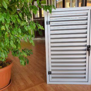 griglia ventilazione apribile argento su misura