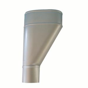 imbuto laterale allumino argento da 80 mm