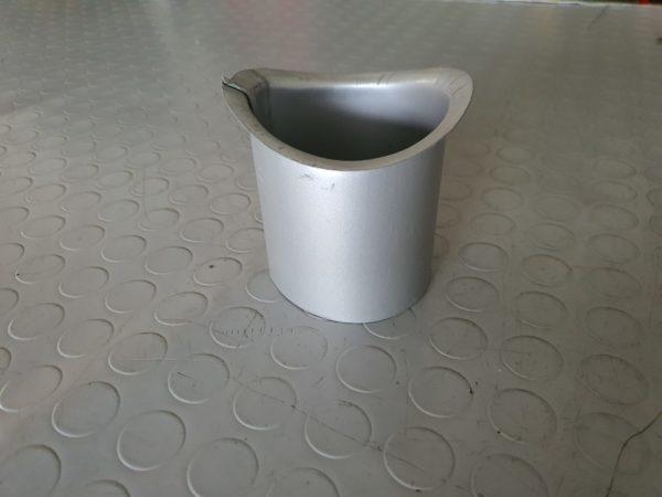 bocchetta preverniciato da 80 mm sagomata ral 9006